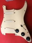 Fender Lace Sensor Gold Loaded Cream Pickguard for Stratocaster: 7 Positions