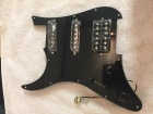 Fully Loaded LH (Left Handed) Stratocastor Pickguard with HSS PickUps and Push-Pull Tone Knob