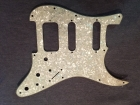 BRAND NEW Pearl Cream 3 ply HSS Scratchplate/Pickguard with Protective Film and Silver Conductive