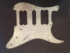 BRAND NEW Pearl Silver White 3 Ply HSH Scratchplate/Pickguard with Protective Film and Silver Conductive